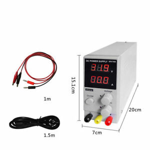 30v 10a Digital Switching Dc Power Supply Adjustable Variable Precision Lab Whit