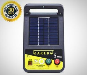 Zareba Solar Energizer 0 1 Joule 6 Volt Battery Included Steel Or Aluminum Wire