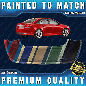 New Painted To Match Rear Bumper Direct Fit For 2011 2015 Chevy Cruze Rs Sport