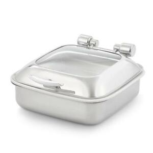 Vollrath 46135 Intrigue Chafer W glass Top Porcelain Food Pan