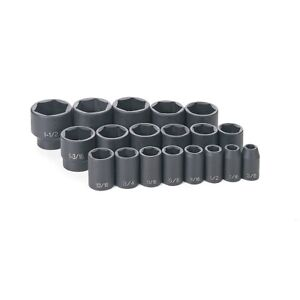 Grey Pneumatic 1319 19 Pc 1 2 Dr Fractional Impact Socket Set
