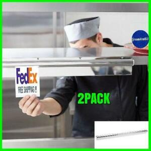 2 Pack 24 Stainless Steel Wall Mount Silver Restaurant Ticket Rod Check Holder
