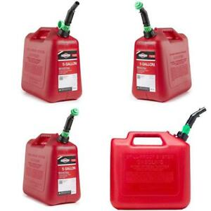 5 Gallon Gas Can Power Equipment Auto Shut Off Fuel Transfer Containers Storage