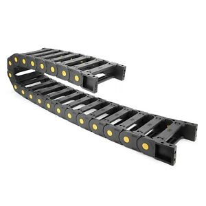 Uxcell R55 25mm X 103mm Plastic Open Type Cable Wire Carrier Drag Chain 1m Le
