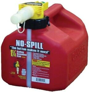 No Spill No spill 1 25 Gal Poly Gas Can