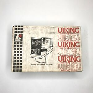 Vintage Realist Viking Microfiche Portable New Old Stock Rare Collectors Item