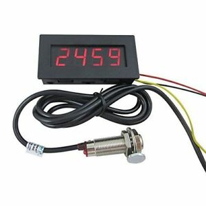Digital Led Tachometer Rpm Speed Meter Hall Proximity Switch Sensor With Magnet