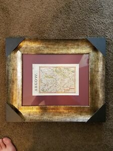 Framed Antique Map Argou From 1630 Receipt From Barry Lawrence Maps Vg