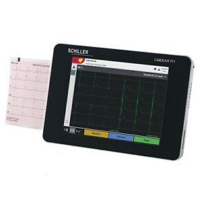 Schiller Cardiovit Ecg Ekg Machine W Etm Software Ft 1 New