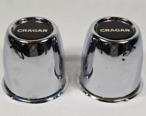 Lot Of 2 Vintage Cragar Center Caps Wheel Trim Push Through