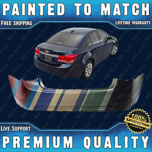 New Painted To Match Rear Bumper Cvr Direct Fit For 2011 2015 Chevy Cruze 11 15