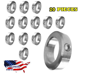 3 4 Bore Stainless Steel Shaft Collars Set Screw Style 20 Pieces