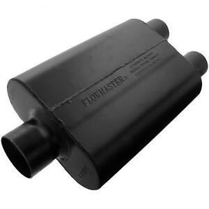 Flowmaster 9430452 Super 44 Muffler 3 00 Center In 2 50 Dual Out Aggressive