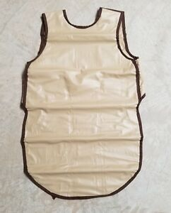 Shielding Nu liteply gard 0 5mm Lead Brown X ray Protection Apron Ref 7518