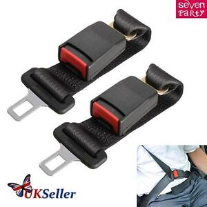 2x Car Tucker Universal Black Clip In Safety Seat Belt Buckle Extender Extension