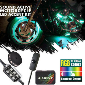 84 Led Motorcycle Engine Fairing Glow Lights Kit Triumph Bonneville Street Cup