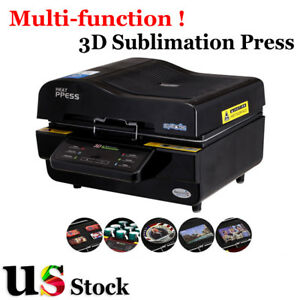 Usa 110v 3d Sublimation Heat Press Machine For Phone Cases Mugs Cups Printing