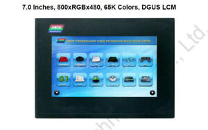 New 7 Inch Hmi Lcd Touch Panel Display Screen 800x480 Rs232 Rs485 Case