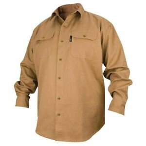 Revco Fs7 khk l Large Khaki Fire Resistant Long Sleeve Cotton Welding Shirt