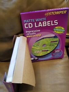 Avery Cd Labels Cd Stomper Cd dvd Labeling System Matte White Approx 450 Labels