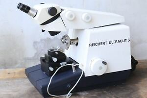 Leica Ag Type 702501 Reichert Ultracut S With Leica Stereozoom 6 Microtome