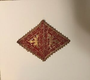 18th Russian Custom Framed Gold Embroidered Sampler Piece