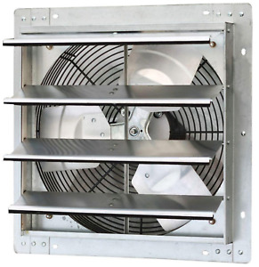Variable Speed Shutter Exhaust Fan Vent Wall Mounted 16 In 1280 Cfm Commercial