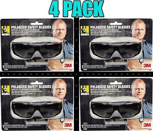 4 Pack 3m Holmes Black Frame W Tinted Scratch Resistant Polarized Safety Glass