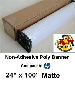 Hp Everyday Matte Polypropylene Banner 24 X 100 ch022a 1 Roll comparable