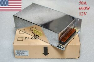 12v Dc 50a Power Supply For Led Strip 600w 12 Volts Usa Seller