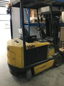 2008 2010 Yale Erc060 6000lb Forklift 3 Stage Mast Lift Truck
