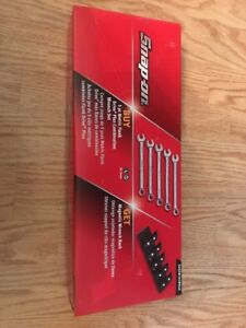 Snap On Flank Drive Plus Metric 5pc Wrench Set 20mm 24mm Soexm705wrak Soex705