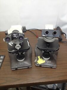 Lot Of 2 Nikon Labophot 2 Microscopes For Parts Or Repair