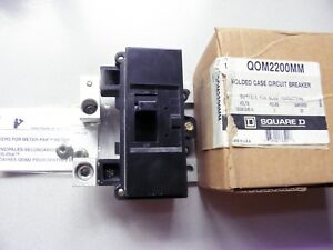 Qom2200mm New In Box Square D Breaker 200 Amp 2 Pole 120 240 Al Cu Molded Case