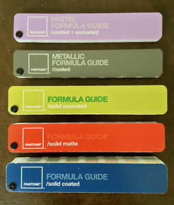 Pantone Formula Color Guides Set Of 5 Coated Uncoated Matte Metallic
