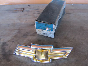 Nos Chevy 1974 74 Impala Gold Bow Tie Grille Emblem