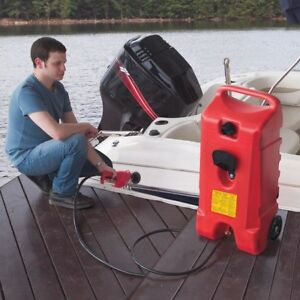 Rolling Gas Can Fluid Transfer Pump Portable Fuel Dispenser Lawn Mower Boat Atv