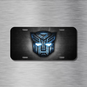 Transformers Vehicle License Plate Front Auto Tag New Autobots Decepticons Mega
