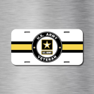 Usa Us Army Veteran Vet Vehicle License Plate Front Auto Tag New Vietnam Gulf