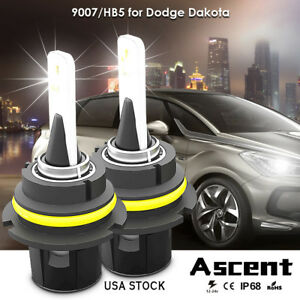 2pcs 9007 Cree Led Headlight Kit Bulbs High Low Beam For Dodge Dakota 2000 1999
