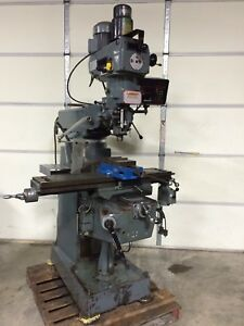 Lagun 9 x42 3hp Ftv 1 Milling Machine Dro Servo Pwr Fd Kurt Air Closer Vise