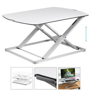 Sit Stand Height Adjustable Desk Workstation Desktop Table Stand Laptop Monitor