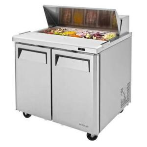 Turbo Air Mst 36 n6 M3 Series 2 door 36 In Sandwich Prep Table
