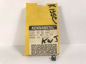 Kennametal Cpgm 21 52 Cpgt060208k New Carbide Inserts Grade K68 6pcs