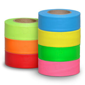 Roll Flagging Tape Color Saturated 3 Mil 12 Rolls Per Box