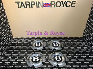 Bentley Gt Gtc Flying Spur Wheel Center Caps Disc Black Cap Set Of 4 Item wc07