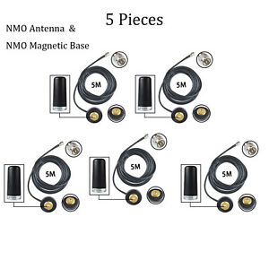 Lot 5 Nmo Antenna Magnetic Mount Base For Motorola Pm400 Pm1200 Pm1500 Radio