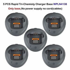 Lot 5 Rapid Charger Tri chemistry Base For Motorola Cp200d Dep450 Radio
