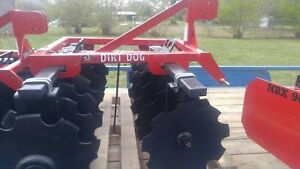 New Dirt Dog Disc Harrow 5 Ft Notched 18 Inch Disc