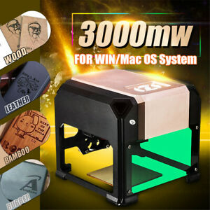 2000mw Desktop Laser Engraving Machine Logo Marking Engraver Cutter Printer